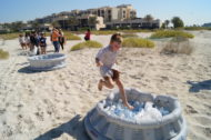 Children joining in an environmental activity at the Park Hyatt Hotel