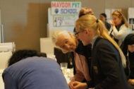 Dr Jane met and spoke to many students as part of the Roots & Shoots Awards