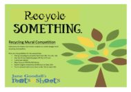 Recycling mural competition flyer