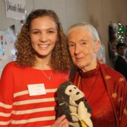 Morgan Pitman with Dr Jane Goodall